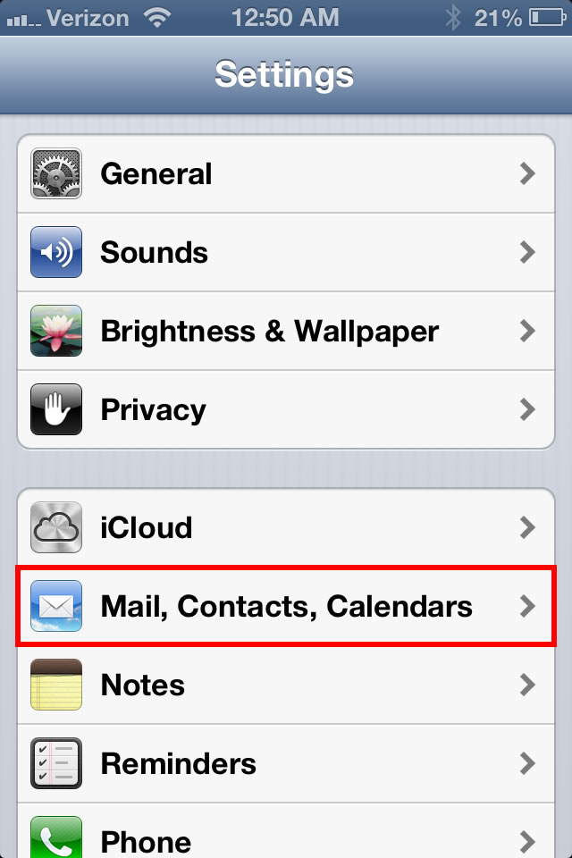 email ios 2