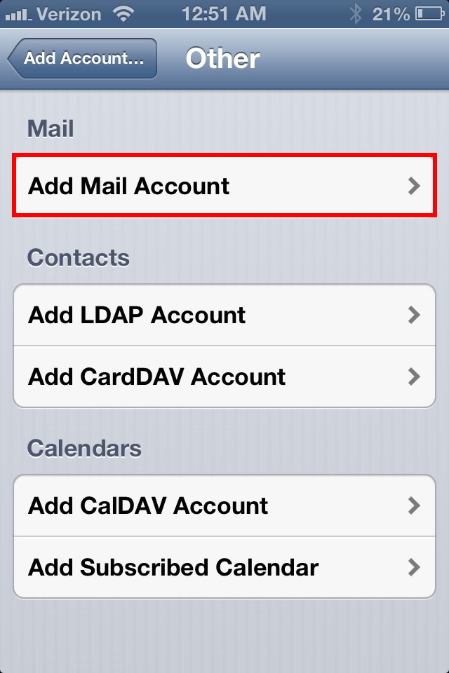 email ios 5