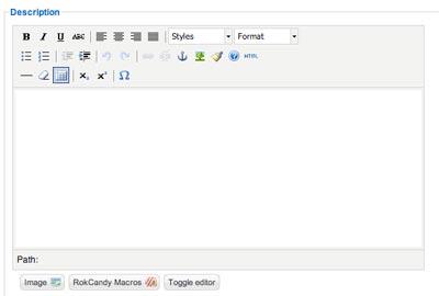 Joomla Text Editor